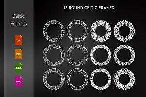 12 Round Celtic Frames