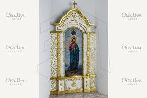 Сhurch interior iconostasis kiot