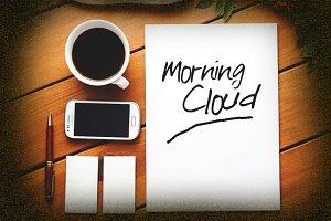 Morning cloud font