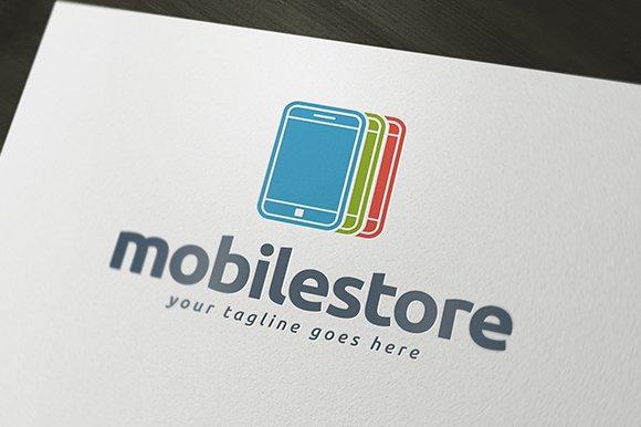 Mobile Store Logo Template ~ Logo Templates ~ Creative Market