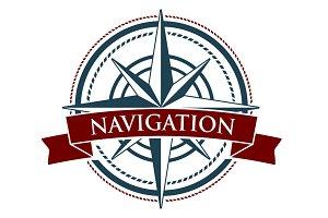 Vector Compass Rose Navigation Logo