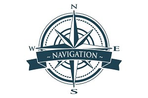 Vector Compass Rose Navigation Logo