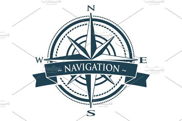 Vector Compass Rose Navigation Logo Icons Creative Market