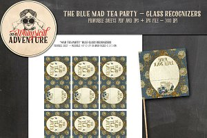 Mad Tea Party Glass Recognizers Blue