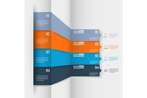 Abstract paper infografics