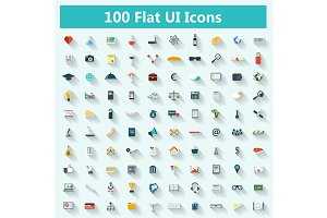 Set of modern icons
