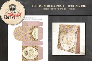Mad Tea Party Souvenir Bag Pink