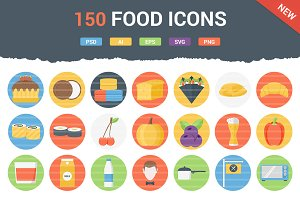 150 Funky Food Icons