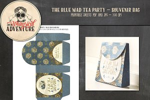 Mad Tea Party Souvenir Bag Blue