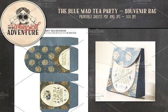 Mad Tea Party Souvenir Bag Blue