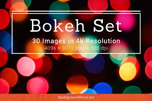 Bokeh Photos Backgrounds Set