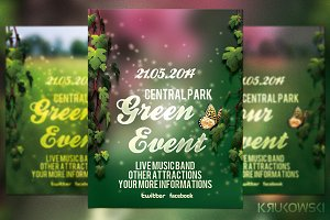 Green Event Flyer