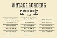 Vintage Borders Pattern Brushes