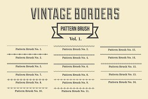 Vintage Borders Pattern Brushes