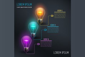 [40%OFF] Colorful Vector Bulbs