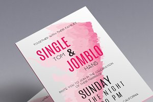 Watercolours Wedding Invitation