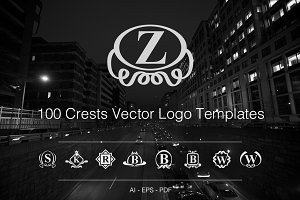 100 Crests Vector Logo Templates