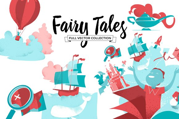 Fairy Tales Collection in Illustrations