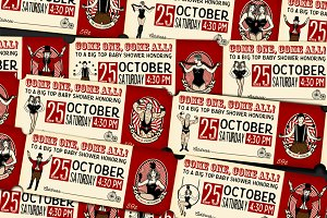 Vintage Circus Ticket + pattern