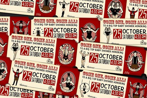 Vintage Circus Ticket + pattern