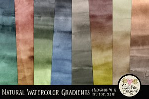 Natural Watercolor Gradient Textures