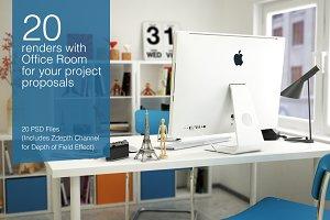 20 image renders indoor Office Room