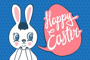 Happy Easter | Bunny Vector