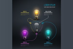 [40%OFF] Colorful Vector Bulbs 3