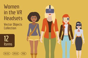 Women in the VR Headsets
