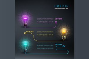 [40%OFF] Colorful Vector Bulbs 7