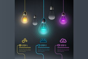[40%OFF] Colorful Vector Bulbs 8