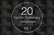 Vol.1 - 20 Stationery Templates