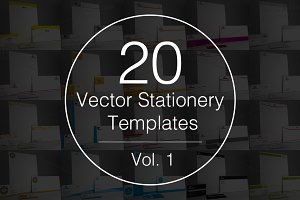 Vol.1 - 20 Stationery Templates