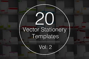 Vol.2 - 20 Stationery Templates