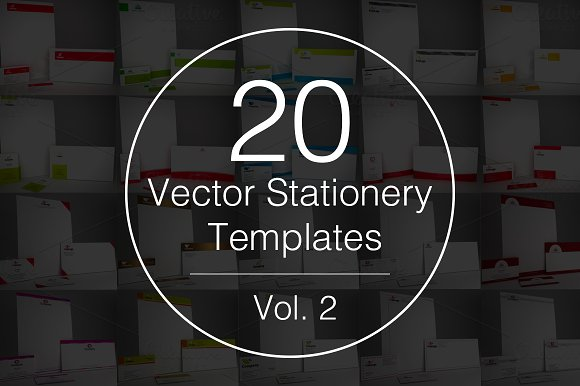 Vol.2 - 20 Stationery Templates - Stationery