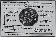 20 Hand Drawn Arrows