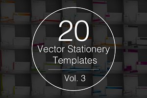 Vol.3 - 20 Stationery Templates