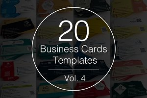 Vol.4 - 20 Business Cards Templates