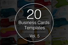 Vol.5 - 20 Business Cards Templates