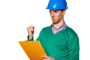 Architect with checklist