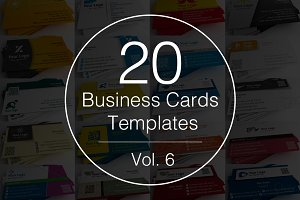 Vol.6 - 20 Business Cards Templates