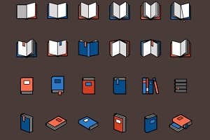 Book color icons