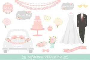 27 Wedding Clip Art Illustrations
