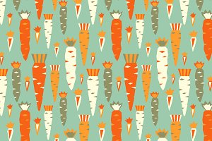 Tomatos and carrots patterns.