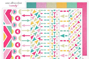 Candy Digital Pattern Papers