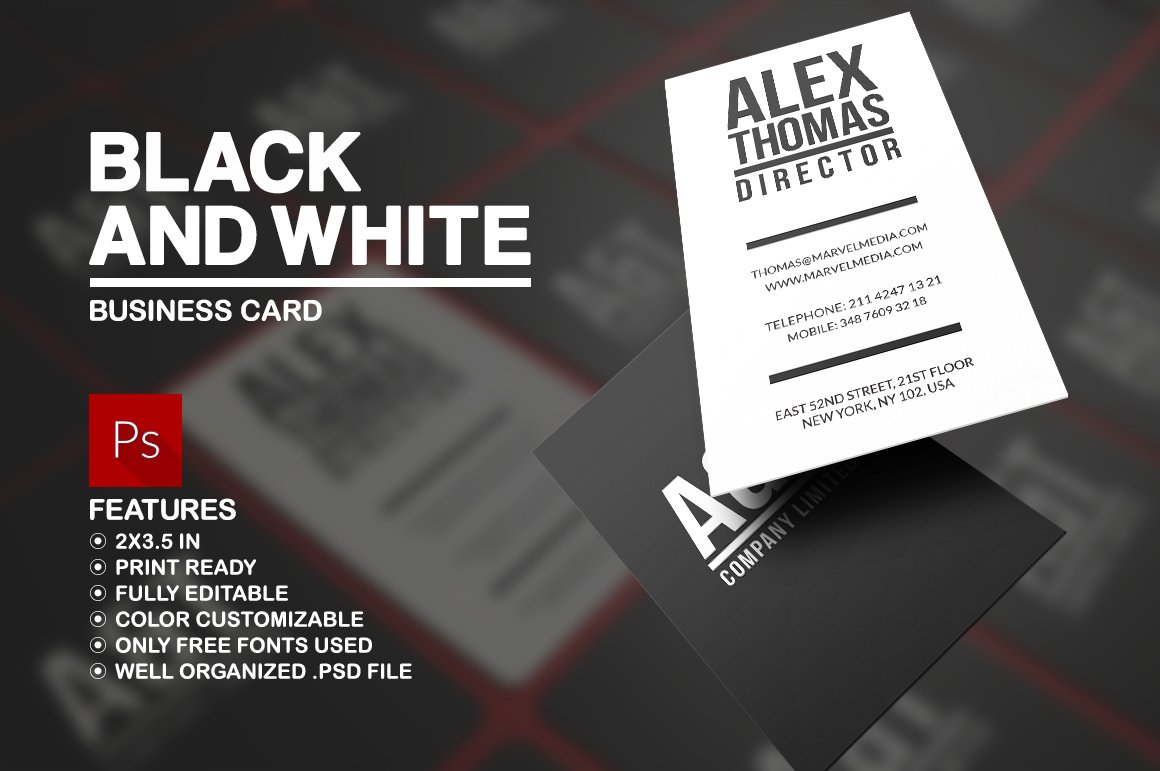Black and white business card business card templates creative black and white business card business card templates creative market magicingreecefo Gallery