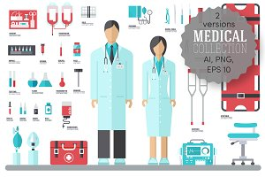 doctor and nurse around equipmen