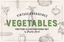 Vegetables Engravings Set