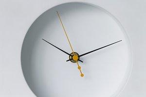 White clock, minimalism