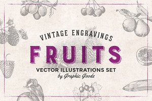 Fruits Engravings Set